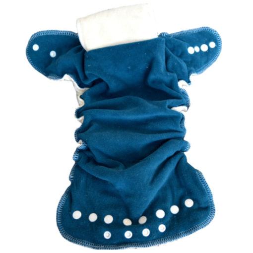 Lulu Dodo Hennep nachtluier binnenzijde met fleece - De Luierhoek, wasbare luiers