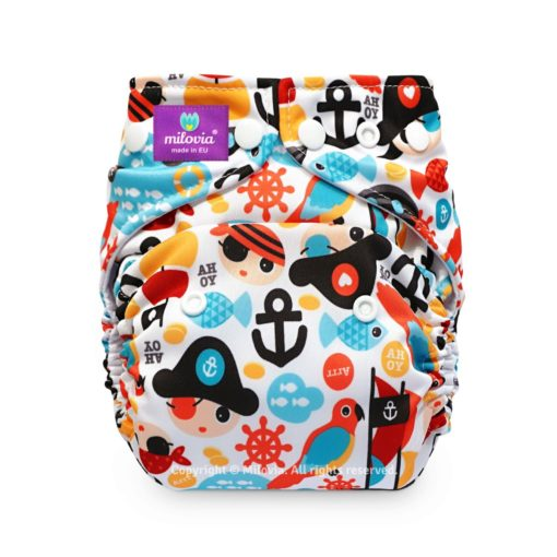 Milovia One Size Pocket Luier Tiny Pirates - De Luierhoek, wasbare luiers