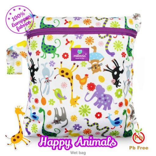 milovia wet bag Happy Animals - De Luierhoek, wasbare luiers