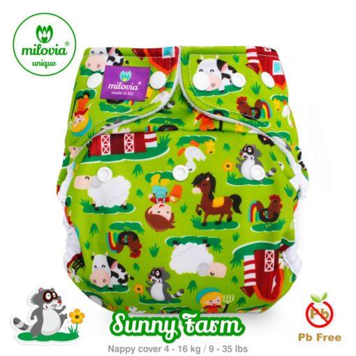 milovia nappy cover one size Sunny Farm - De Luierhoek, wasbare luiers