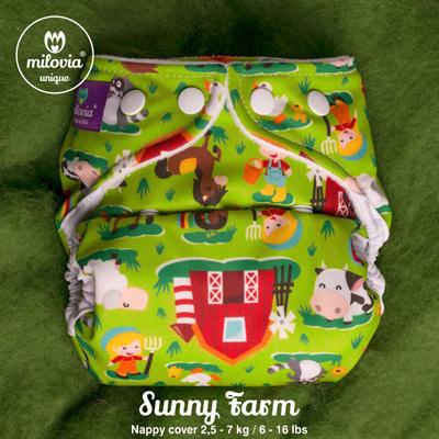 milovia overbroekje Sunny Farm - De Luierhoek, wasbare luiers