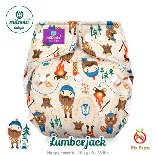 milovia cover one size Lumberjack - De Luierhoek, wasbare luiers