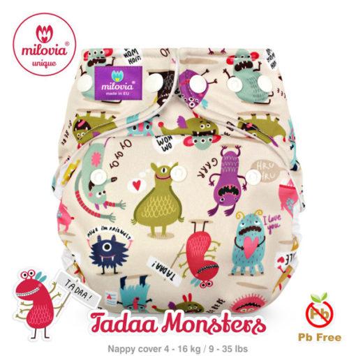 milovia cover one size Tadaa Monsters - De Luierhoek, wasbare luiers