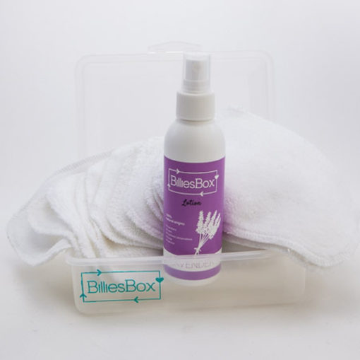 Billiesbox - lotion spray - wasbare billendoekjes