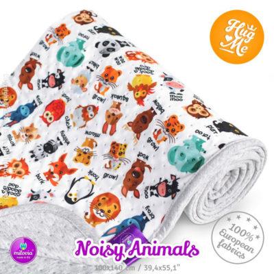 milovia_dotness_blanket_100x140_cm_noisy_animals, De Luierhoek