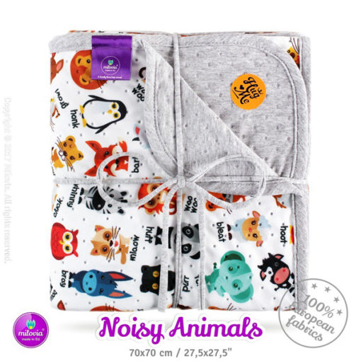 milovia_dotness_deken_70x70_cm_noisy_animals, , De Luierhoek