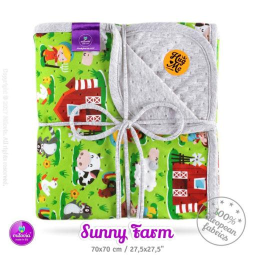 milovia_dotness_deken_70x70_cm_sunny_farm, De Luierhoek