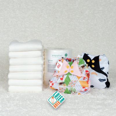 Proefpakket Little Lamb vouwluier en bumGenius Flip - De Luierhoek, wasbare luiers
