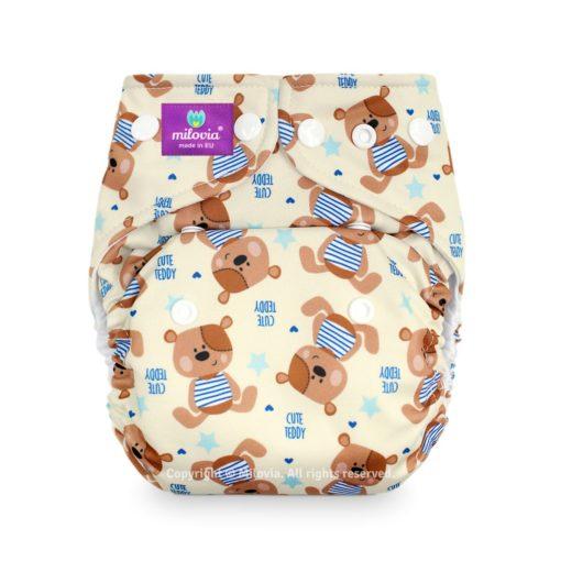 Milovia One Size Pocket Luier Cute Teddy - De Luierhoek, wasbare luiers