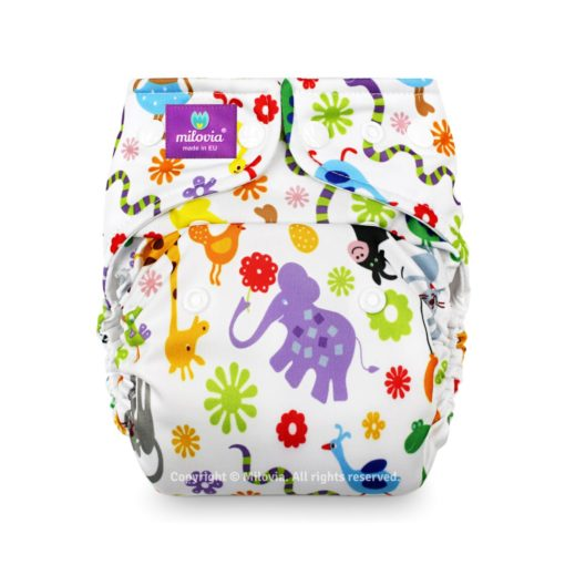 Milovia One Size Pocket Luier Happy Animals - De Luierhoek, wasbare luiers
