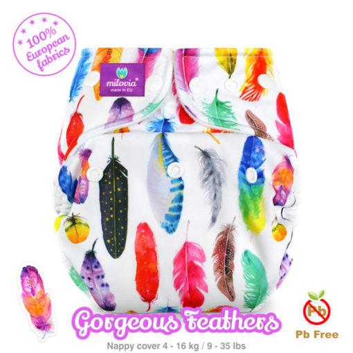 Milovia cover Gorgeous Feathers - De Luierhoek, wasbare luiers