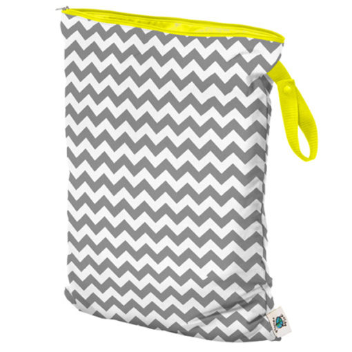 Planet Wise Luiertas Large Grey Chevron - De Luierhoek, wasbare luiers