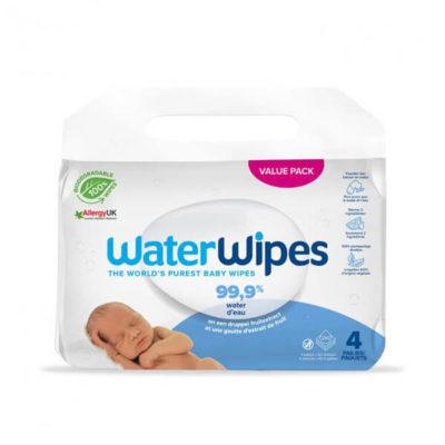 Water Wipes 4x 60 stuks - De Luierhoek, natuurlijke verzorging