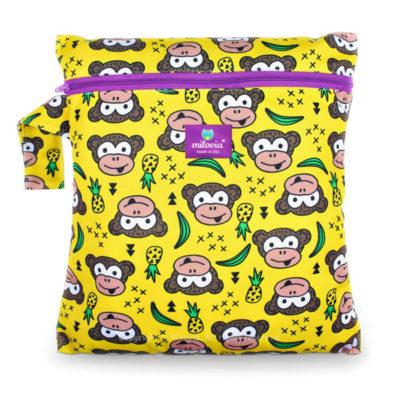 milovia wet bag Funky Monkey - De Luierhoek, wasbare luiers