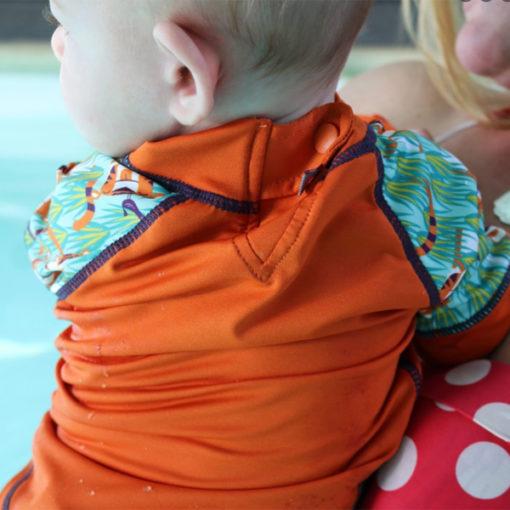 Close Parent zwemshirt Oswald and Bo achterzijde - De Luierhoek, wasbare luiers