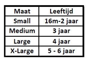 Maattabel Super Undies Pull on - De Luierhoek, wasbare luiers