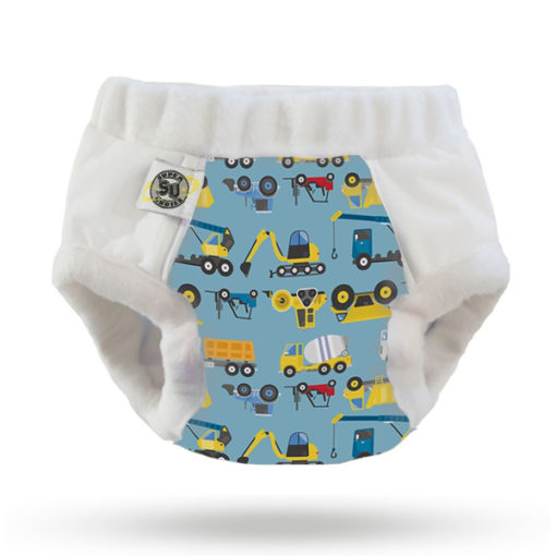 Nachtluiers Nighttime Undies Super Undies Dumps and Trucks - De Luierhoek, wasbare luiers