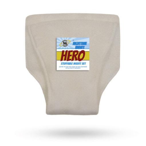 Super Undies inlegger Hero Katoen Hennep - De Luierhoek, wasbare luiers