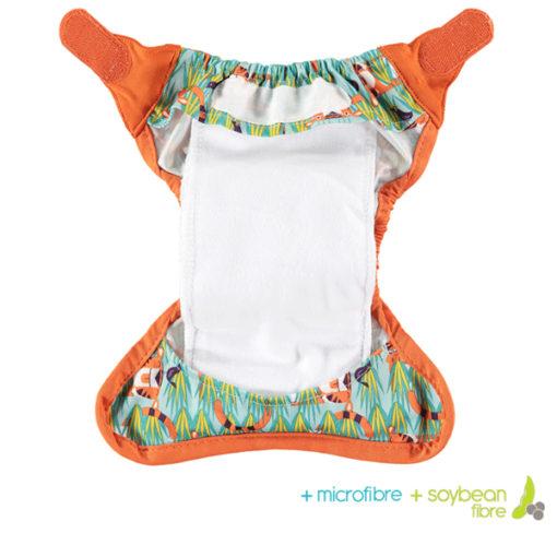 Close Pop-in newborn luier binnenzijde microvezel - De Luierhoek, wasbare luiers