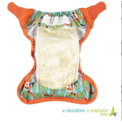 Close Pop-in newborn luier binnenzijde soya - De Luierhoek, wasbare luiers