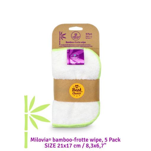 Milovia bamboe Wipes - De Luierhoek, wasbare luiers