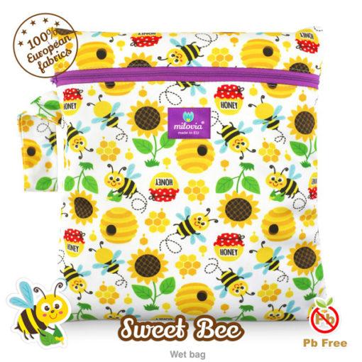 Milovia Luiertas Sweet Bee - De Luierhoek, wasbare luiers