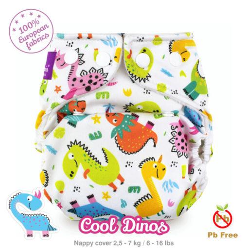 Milovia newborn overbroekje Cool Dinos - De Luierhoek, wasbare luiers