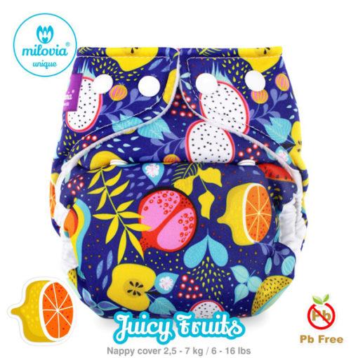 Milovia newborn overbroekje Juicy Fruits - De Luierhoek, wasbare luiers