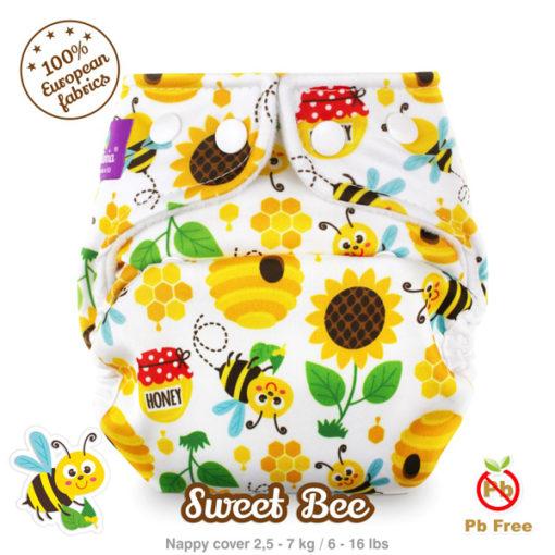 Milovia newborn overbroekje Sweet Bee - De Luierhoek, wasbare luiers