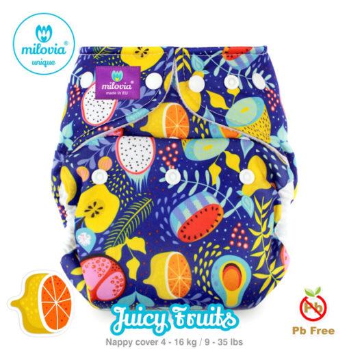 Milovia one size cover Juicy Fruits - De Luierhoek, wasbare luiers