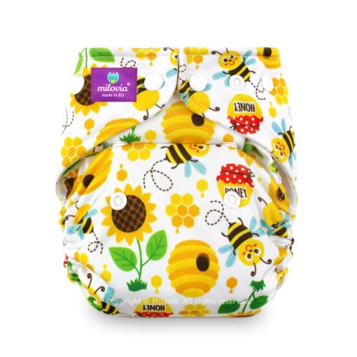 Milovoa Pocket luier Sweet Bee - De Luierhoek, wasbare luiers