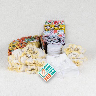 Huurpakket newborn luiers - De Luierhoek, wasbare luiers