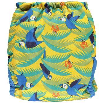 Close Pop-in nappy Parrot achterzijde - De Luierhoek, wasbere luiers