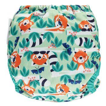 Close Pop-in nappy red Panda achterzijde - De Luierhoek, wasbere luiers