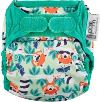 Close Pop-in nappy velcro Red Panda - De Luierhoek, wasbare luiers