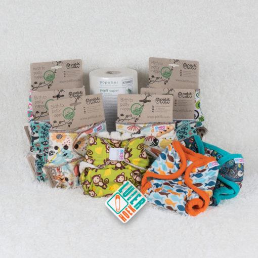 Proefpakket Petit Lulu Fluffy Organic - De Luierhoek, wasbare luiers