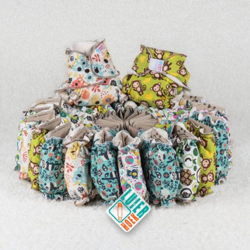 Voordeelpakket Petit Lulu Fluffy Organic - De Luierhoek, wasbare luiers