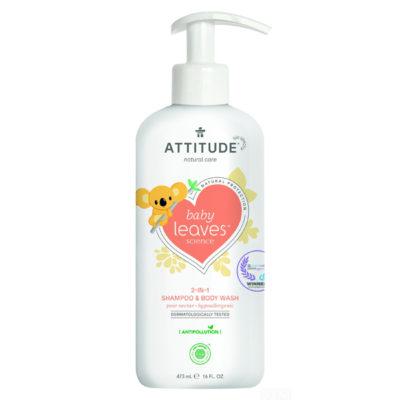 Attitude Baby Leaves 2 in 1 shampoo - De Luierhoek, natuurlijke verzorging