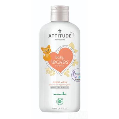 Attitude Baby Leaves Bubble Wash Pear Nectar - De Luierhoek, natuurlijke verzorging