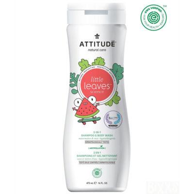 Attitude Little Leaves 2 in 1 shampoo Watermeloen Cocos - De Luierhoek, natuurlijke verzorging