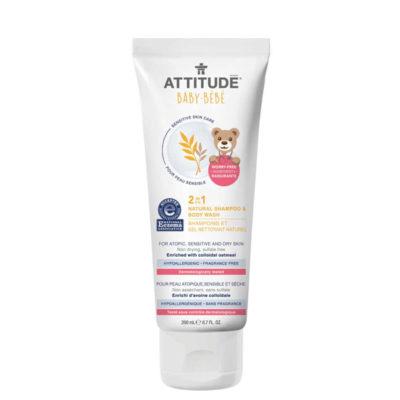 Attitude babyshampoo-en-wasgel-hypoallergeen - De Luierhoek, natuurlijke verzorging