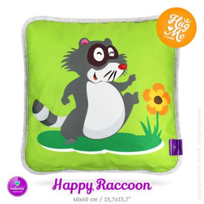 Milovia Kussen Happy Raccoon - De Luierhoek, wasbare luiers