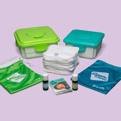 Cheeky Wipes Maxi Kit met witte doekjes - De Luierhoek,wasbare luiers