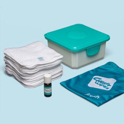 Cheeky Wipes Mini Kit met witte doekjes - De Luierhoek, wasbare luiers