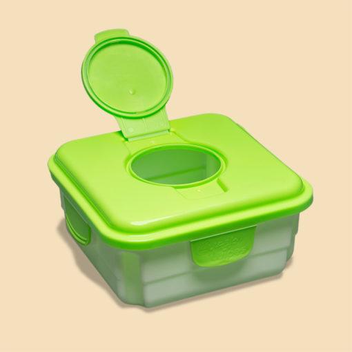 Cheeky Wipes doos voor vuile doekjes met open deksel - De Luierhoek, wasbare luiers