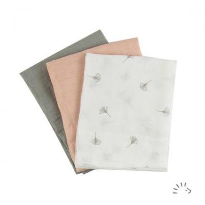 Popolini hydrofiel luier tetradoek Soft Ginko - De Luierhoek, wasbare luiers