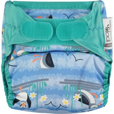 Close Pop-in nappy velcro Puffin - De Luierhoek, wasbare luiers