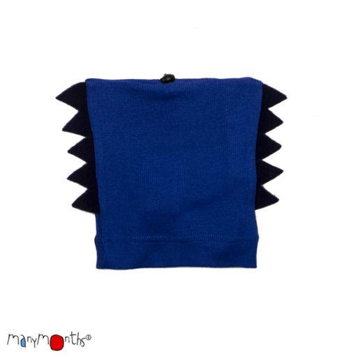 De Luierhoek, ManyMonths Natural Woollies Dino Beanie UNiQUE, Jewel Blue
