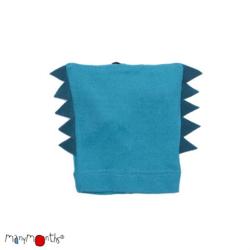 De Luierhoek, ManyMonths Natural Woollies Dino Beanie UNiQUE, Royal Turquoise