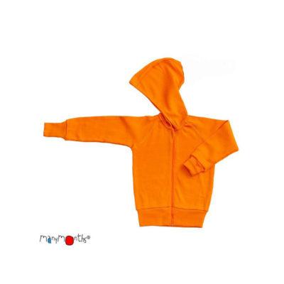 De Luierhoek, ManyMonths Natural Woollies Hooded Zip Cardigan, Golden Oat